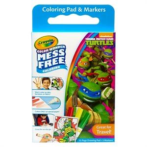 Crayola Color Wonder Coloring Kit - Teenage Mutant Ninja Turtles, Multi-Colored