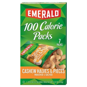 Emerald 100 Calories Cashew Halves Pieces 4.41 oz