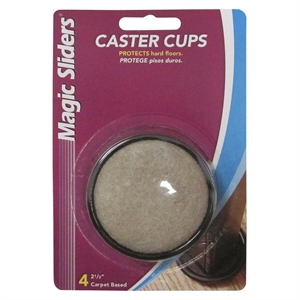 Magic Sliders Caster Cups 4-pk.