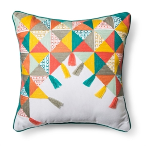 """""""Colorful Triangles Throw Pillow (18""""""""x18"""""""") Multicolor - Pillowfort, Multi-Colored"""""""