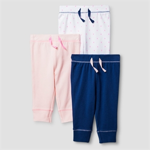Baby Girls' 3 Pack Pants Baby Cat & Jack - Pink/Navy 6-9M, Infant Girl's, Size: 6-9 M