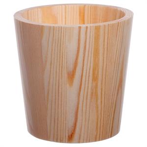 """""""Hand Made Modern Wood Flower Pot - 5"""""""" x 5"""""""" - Threshold, Natural"""""""