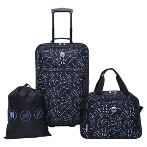 Skyline Luggage Set - Black