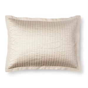 Cream Silk and Linen Quilted Sham (Standard) - Fieldcrest, White