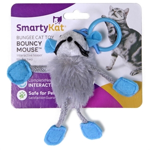 SmartyKat BouncyMouse Cat Toy, Multicolor Rainbow