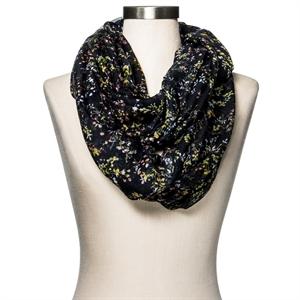 Women's Fashion Scarf Floral Black - Merona