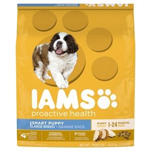 Iams ProActive Health Smart Puppy Large Breed Premium Dry Puppy Food 30.6lb Bag, Burmese Beige