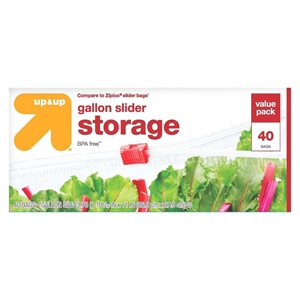 Slider Gallon Storage Bags 40 ct - up & up, Clear