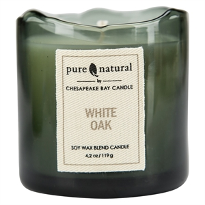 Glass Container Candle Small - White Oak - Pure & Natural by Chesapeake Bay, Grey