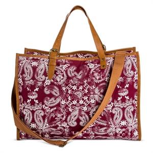 Women's' Bandana Print Weekender Handbag Red - Mossimo Supply Co.