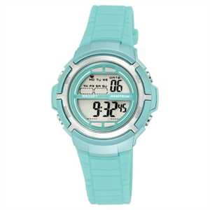 Unisex Armitron Pro-Sport Teal Digital Watch - Silver, Turquoise