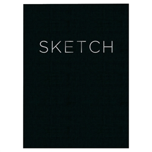 """Sketchbook, Open Bound, No Rule, 8"""" x 11"""", 240 sheets - Black """"Sketch"""", Multi-Colored"""