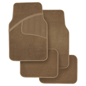Rubbermaid Carpet Floor Mats Tan 4pk, Brown
