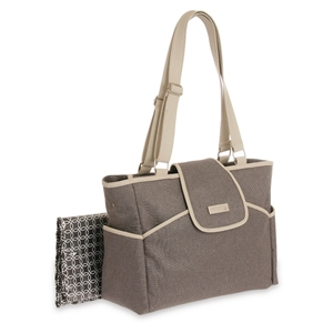 Joy by Carter's Fashion Flap Tote Diaper Bag - Grey Flannel, Flannel Grey