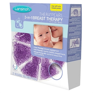 Lansinoh Therapearl 3-IN-1 Breast Therapy, Baby Purple