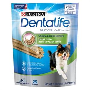 Purina Dentalife Small/Medium Daily Oral Care Treat 28.5oz