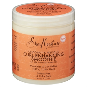 SheaMoisture Coconut & Hibiscus Curl Enhancing Smoothie with Silk Protein and Neem Oil 6 oz