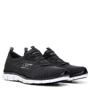 Skechers Gratis Sleek and Chic Memory Foam Slip On Sneaker Blackwhite