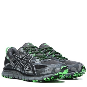 ASICS GEL-Scram 3 Trail Running Shoe Grey/Black/Green