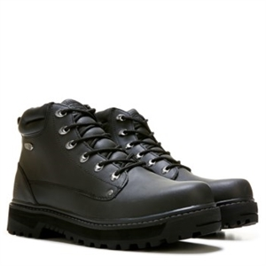 Skechers Pilot Lace Up Leather Medium/Wide Boot Black