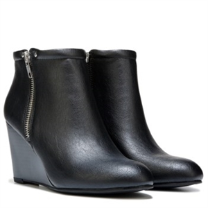 Unlisted Bold Type Wedge Bootie Black