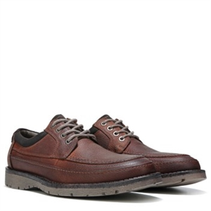 Dockers Eastview Memory Foam Lace up Red Brown