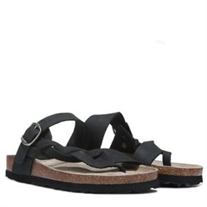 White Mountain Crawford Footbed Sandal Black