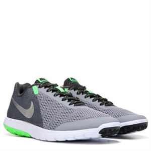 Nike Flex Experience RN 5 X-Wide Running Shoe Silver/Black/Green
