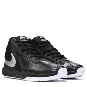 Nike Team Hustle D 7 Basketball Shoe Grade School Black/White