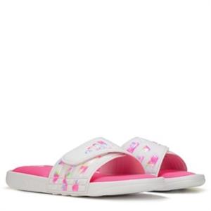 adidas Adissage Comfort Slide Sandal Pre/Grade School White / Pink