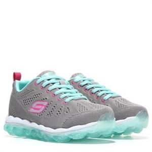Skechers Skech Air Bounce About Sneaker Pre/Grade School Grey/Light Blue