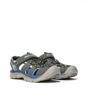 Skechers Relix Sport Sandal Pre/Grade School Charcoal/Blue