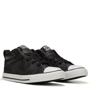 Converse Chuck Taylor All Star Street Mid Top Leather Sneaker Black/White Leather