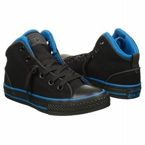 Converse Chuck Taylor All Star Static Mid Top Sneaker Black Mono/Blue