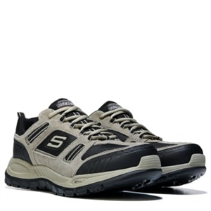 Skechers Double Down Relaxed Fit Memory Foam X-Wide Sneaker Taupe/Black