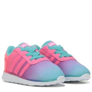 adidas Lite Racer Running Shoe Toddler Turquoise/Pink/Coral