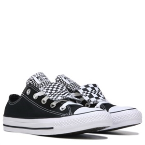 Converse Chuck Taylor All Star Double Tongue Low Top Sneaker Black/White Geo Dot