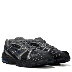 L.A. Gear Trek Memory Foam Wide Running Shoe Black/Grey/Navy