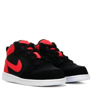 Nike Court Borough High Top Sneaker Toddler Black/Action Red