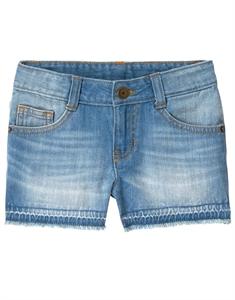 Let-Down Hem Jean Shorts