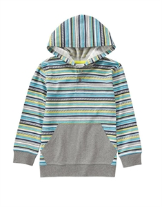 Stripe Hooded Henley