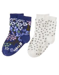 Star Floral Socks 2-Pack