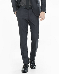 Skinny Innovator Charcoal Gray End-on-end Suit Pant