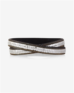 Double Wrap Rhinestone Bracelet