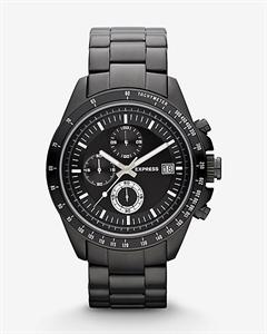 Chronograph Bracelet Watch - Black