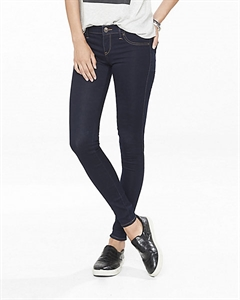 Solid Dark Extreme Stretch Low Rise Jean Legging