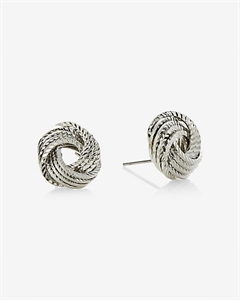 Textured Knot Post Earrings