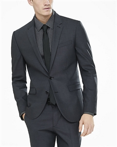 Extra Slim Innovator Charcoal Gray End-on-end Suit Jacket