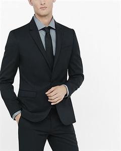 Extra Slim Innovator Black Wool Blend Twill Suit Jacket