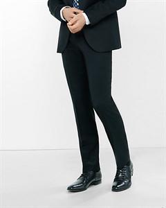 Slim Photographer Black Wool Blend Twill Suit Pant